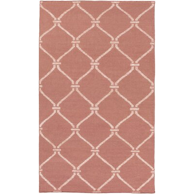 Landing Hand Woven Pink Area Rug Rug Size: 5 x 76