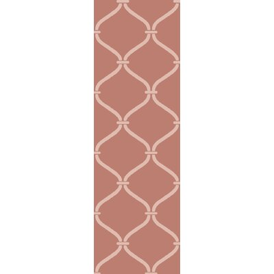 Landing Hand Woven Pink Area Rug Rug Size: Runner 26 x 8