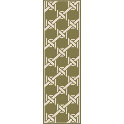 Orchid Olive Indoor/Outdoor Area Rug Rug Size: Runner 26 x 8