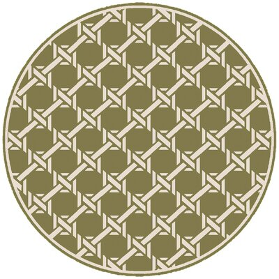 Orchid Olive Indoor/Outdoor Area Rug Rug Size: Round 8