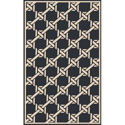 Sweetwood Black Indoor/Outdoor Area Rug Rug Size: 5 x 8