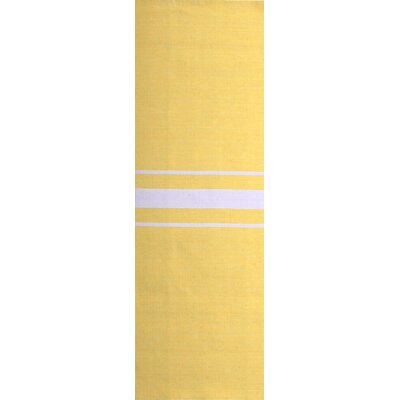 Lansing Hand Woven Yellow Area Rug Rug Size: Runner 26 x 8