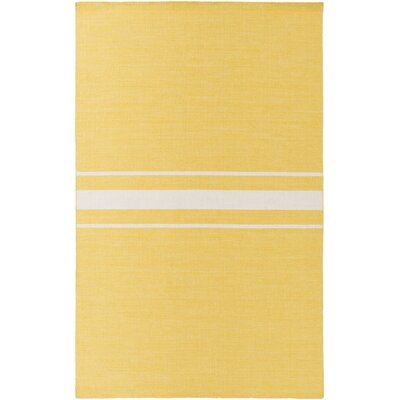 Lansing Hand Woven Yellow Area Rug Rug Size: 8 x 11