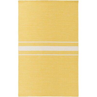Lansing Hand Woven Yellow Area Rug Rug Size: 8 x 11