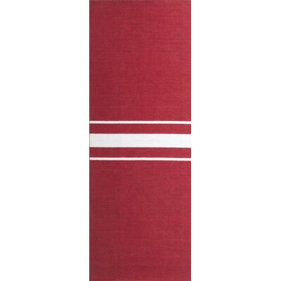 Lansing Hand Woven Red Area Rug Rug Size: Runner 26 x 8
