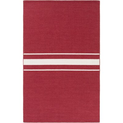 Lansing Hand Woven Red Area Rug Rug Size: 8 x 11