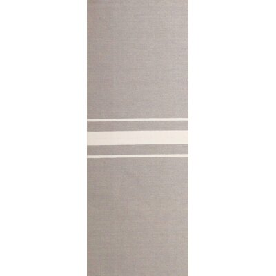 Lansing Hand Woven Gray Area Rug Rug Size: Runner 26 x 8