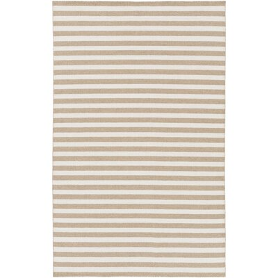 Lansing Hand Woven Beige Area Rug Rug Size: 5 x 8