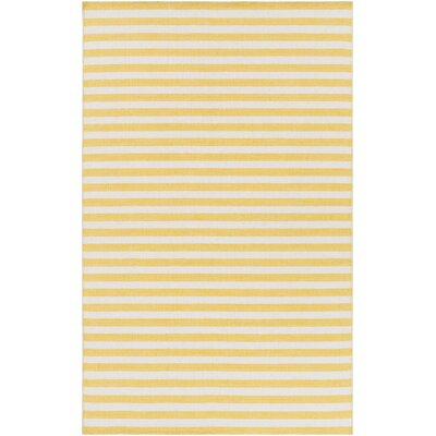Breakwater Bay Lansing Hand Woven Yellow/Gray Area Rug