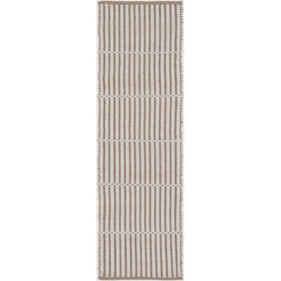 Interlachen Hand Woven Beige/Brown Area Rug Rug Size: Runner 26 x 8