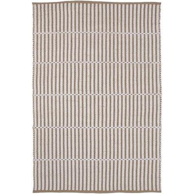 Interlachen Hand Woven Beige/Brown Area Rug Rug Size: 5 x 76