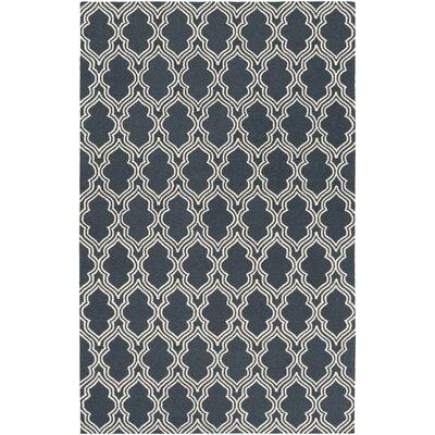 Frenchboro Hand Hokked Blue Area Rug Rug Size: 8 x 10