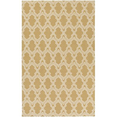 Frenchboro Hand Hooked Beige Area Rug Rug Size: Rectangle 8 x 10