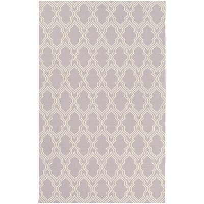 Frenchboro Hand-Hooked Purple Area Rug Rug Size: Rectangle 5 x 76