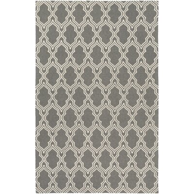 Frenchboro Hand-Hooked Gray Area Rug Rug Size: 9 x 13