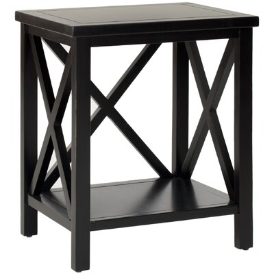 Oldham End Table Color: Black