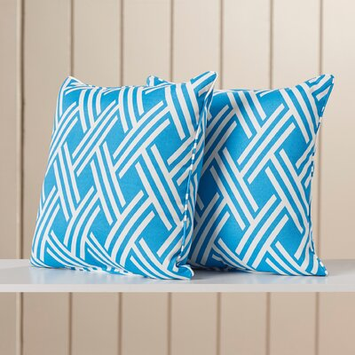 Troyer Corded Indoor/Outdoor Throw Pillow Color: Caribe
