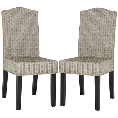 Olympus Solid Wood DIning Chair Color: Antique Gray