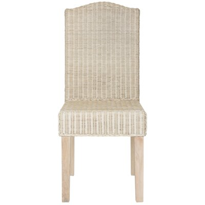 Carrcroft Parsons Chair Upholstery: White Washed