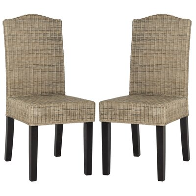 Olympus Solid Wood DIning Chair Upholstery: Gray