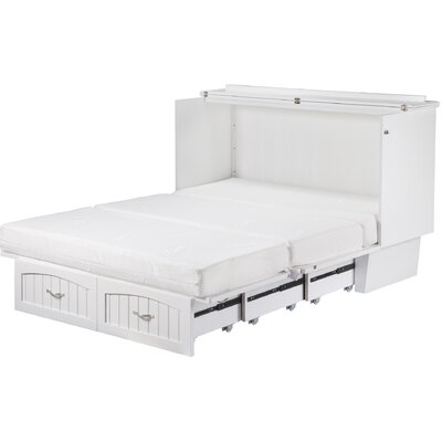 Graham Queen Storage Platform Bed with Mattress Color: White