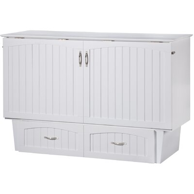 Williamston Queen Storage Murphy Bed Finish: White