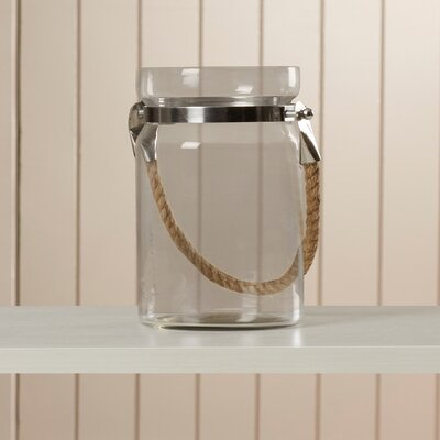 Breakwater Bay Raleigh Glass Lantern