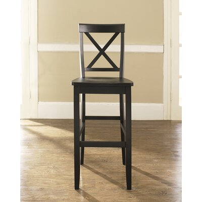 Neihart 30 Bar Stools Finish: Black