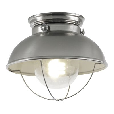 Corbel 1-Light Outdoor Flush Mount Finish: Brushed Stainless