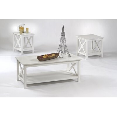 Ruthwynn 3 Piece Coffee Table Set Finish: White