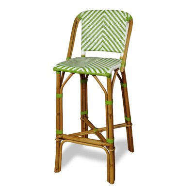 Danforth Bar Stool Upholstery: Green