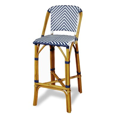 Danforth Bar Stool Upholstery: Navy