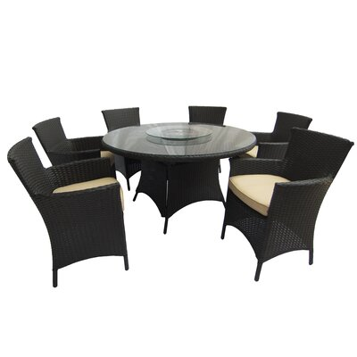 Brookfield 7 Piece Dining Set with Cushions