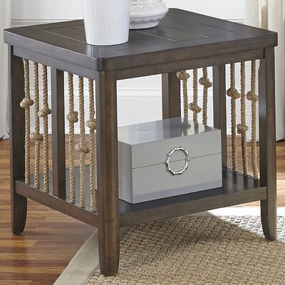 Chaz End Table Finish: Brown