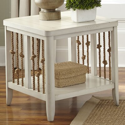 Chaz End Table Finish: White