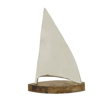 Model Wood Sailboat Sculpture
