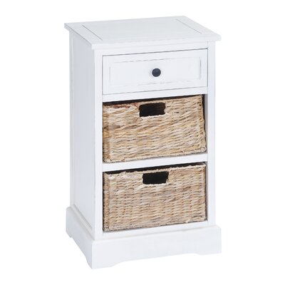 Calais 1 Drawer Chest with 2 Basket