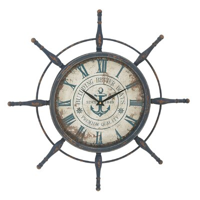 Oversized 29 Attractive Ship Wheel Wall Clock