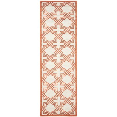 McArthur Ivory/Orange Area Rug Rug Size: Runner 23 x 7