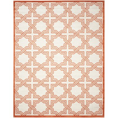 McArthur Ivory/Orange Area Rug Rug Size: Rectangle 26 x 4