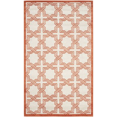McArthur Ivory/Orange Area Rug Rug Size: Rectangle 8 x 10
