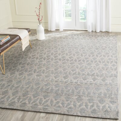 Gilchrist Hand-Woven Grey/Gold Area Rug Rug Size: Rectangle 9 x 12
