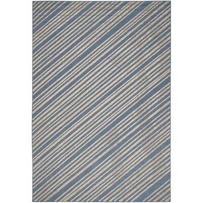 Guilford Blue Indoor/Outdoor Area Rug Rug Size: 53 x 77