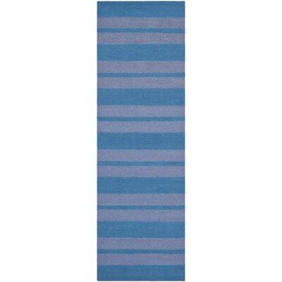 Blaisdell Hand-Woven Turquoise/Lavander Area Rug Rug Size: Runner 26 x 8
