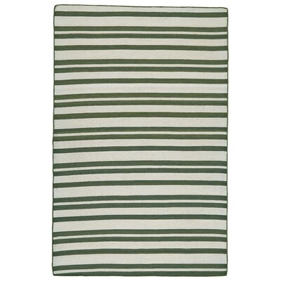 New Portland Hand-Loomed Olive Indoor/Outdoor Area Rug Rug Size: 36 x 56