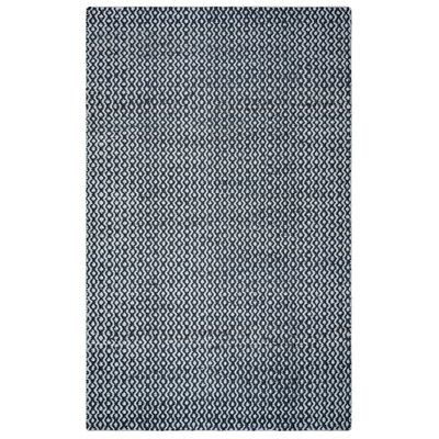 Jammie Hand-Loomed White Area Rug Rug Size: Rectangle 5 x 8