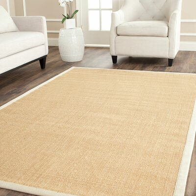 Boxrah Beige Area Rug Rug Size: Rectangle 4 x 6