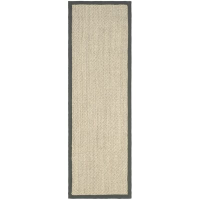 Preston Beige/Gray Area Rug Rug Size: Runner 26 x 12