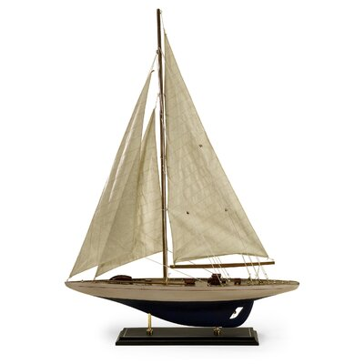 Colossal Antiqued Sailing Boat