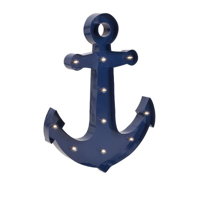 Lighted Anchor Sculpture Marquee Sign